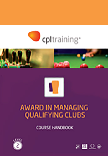 Award in Managing Qualifying Clubs Handbook cover